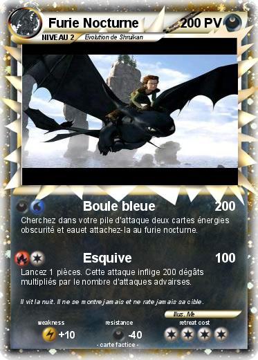 Pok mon furie nocturne 44 44 boule bleue ma carte pok mon - Furie nocturne dragon ...