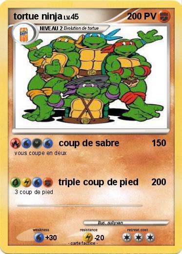 Pok mon tortue ninja 29 29 coup de sabre ma carte pok mon - Tortu ninja nom ...