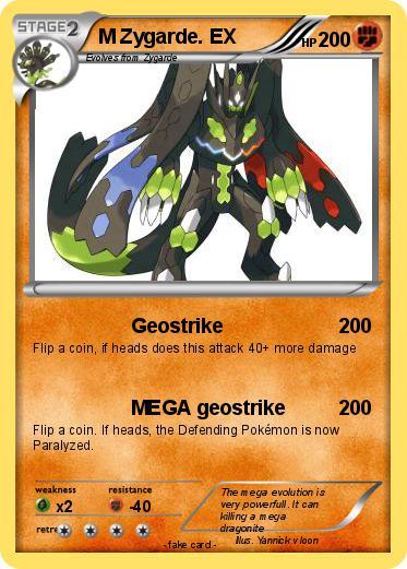 Pokémon M Zygarde EX 19 19 - Geostrike - My Pokemon Card