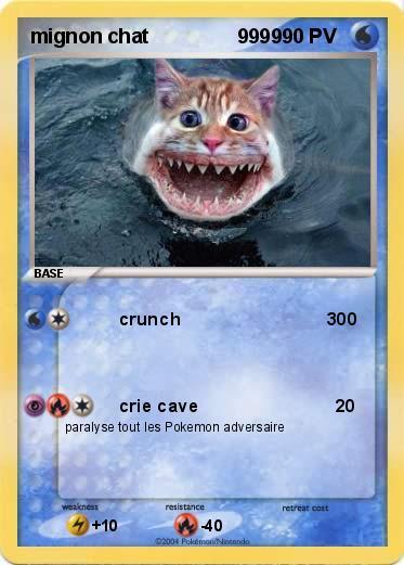 Pok mon mignon chat 9999 9999 crunch 300 ma carte pok mon - Chat tout mignon ...