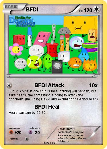 Pokémon Bfdi 12 12 Bfdi Attack My Pokemon Card