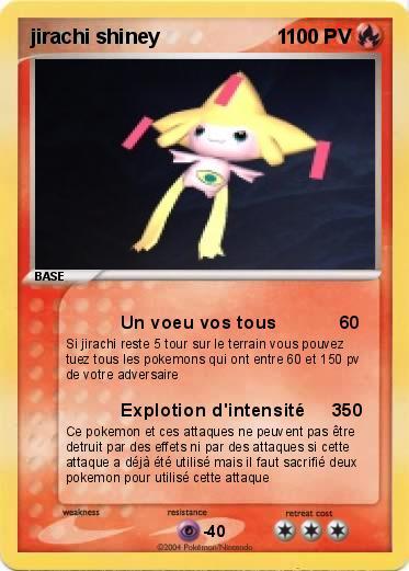 Pok mon jirachi shiney 1 1 un voeu vos tous ma carte - Carte pokemon jirachi ...