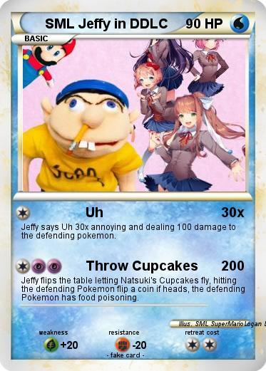 pokémon sml jeffy in ddlc uh my pokemon card