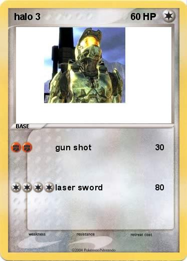 Pokmon halo 3 1 1 gun shot My Pokemon Card