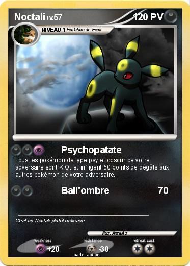 Pok mon noctali 193 193 psychopatate ma carte pok mon - Pokemon noctali ...