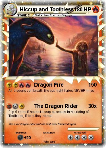 Pok 233 Mon Hiccup And Toothless 1 1 Dragon Fire My