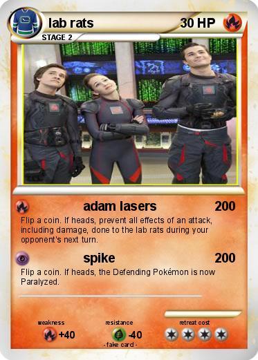 pokémon lab rats 2 2 adam lasers my pokemon card