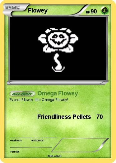 Pokémon Flowey 50 50 - Omega Flowey - My Pokemon Card