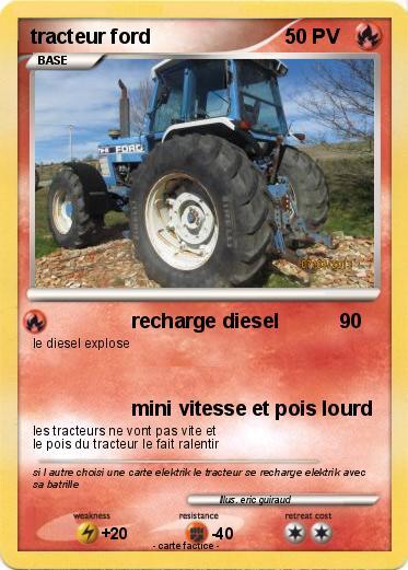 Pok mon tracteur ford recharge diesel ma carte pok mon - Le tracteur tom ...