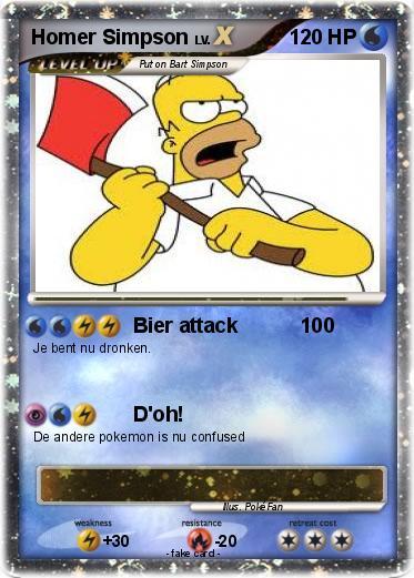 Pok mon homer simpson 336 336 bier attack 100 my - Homer simpson nu ...