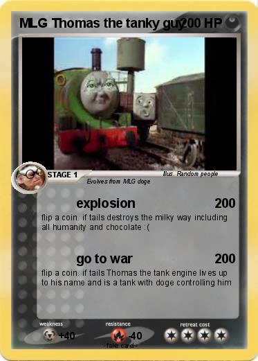 Pokémon Mlg Thomas The Tanky Guy Explosion My Pokemon Card