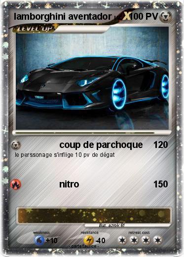 Pok mon lamborghini aventador 20 20 coup de parchoque - Lamborghini a colorier ...