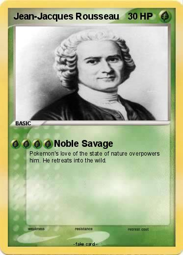 Rousseau and the noble savage myth