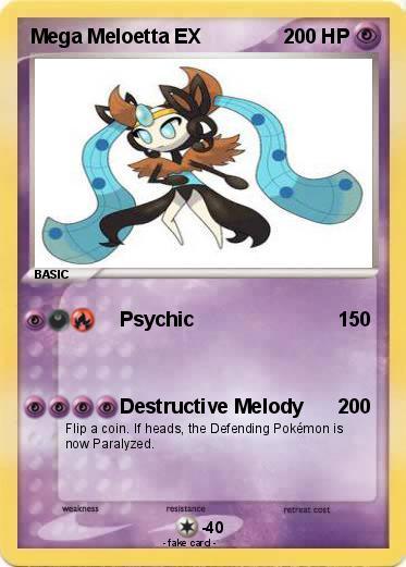 Pokémon Mega Meloetta EX - Psychic - My Pokemon Card