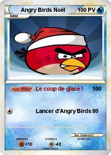 Pok mon angry birds noel 1 1 le coup de glace ma carte pok mon - Angry birds noel ...