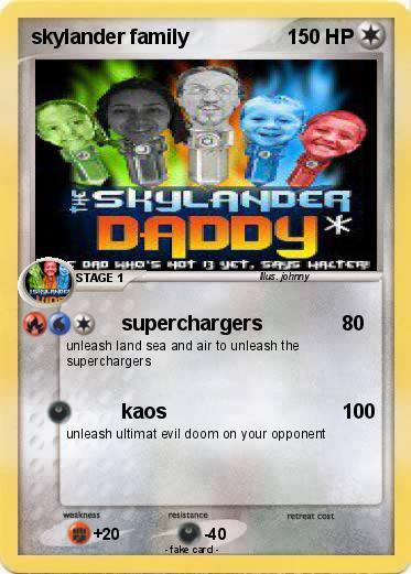 Pokémon skylander family 1 1 - superchargers - My Pokemon Card
