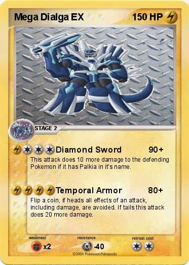 Pokémon Mega Dialga EX 1 1 - Diamond Sword 90+ - My ...