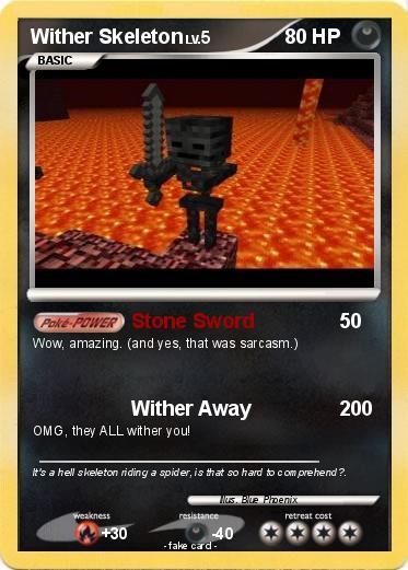 Pok 233 Mon Wither Skeleton 21 21 Stone Sword My Pokemon Card