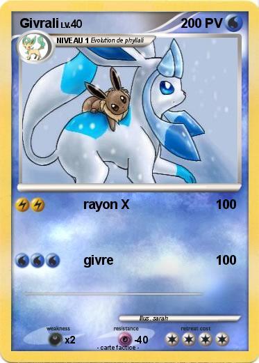 Pok mon givrali 264 264 rayon x ma carte pok mon - Givrali pokemon ...