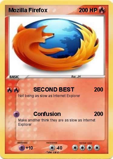 Pokémon Mozilla Firefox 41 41 - SECOND BEST - My Pokemon Card