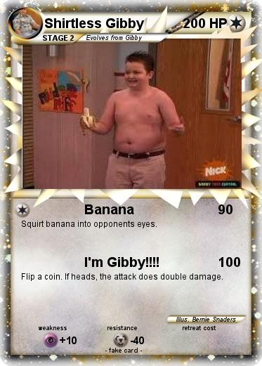 Pok 233 Mon Shirtless Gibby 1 1 Banana My Pokemon Card