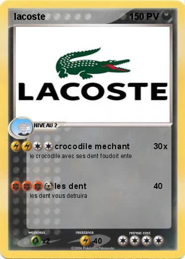 Coloriage Crocodile Mechant.Pokemon Lacoste 3 3 Crocodile Mechant Ma Carte Pokemon