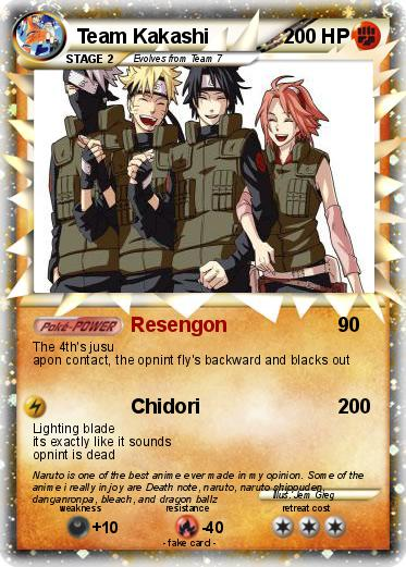Pokémon Team Kakashi 5 5 - Resengon - My Pokemon Card