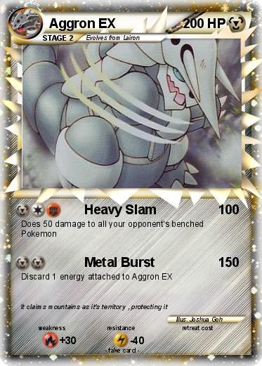 Pokémon Aggron EX 60 60 Heavy Slam My Pokemon Card Adorable Slam Metal Quotes