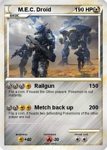 Pokémon M E C Droid - Railgun - My Pokemon Card