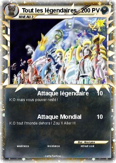 Pok mon tout les legendaires 1 1 attaque l gendaire ma carte pok mon - Tout les carte pokemon ex du monde ...