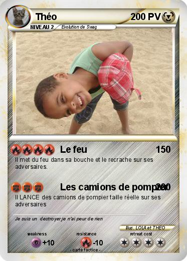 Häufig Pokémon Theo 545 545 - Le feu - Ma carte Pokémon UN12