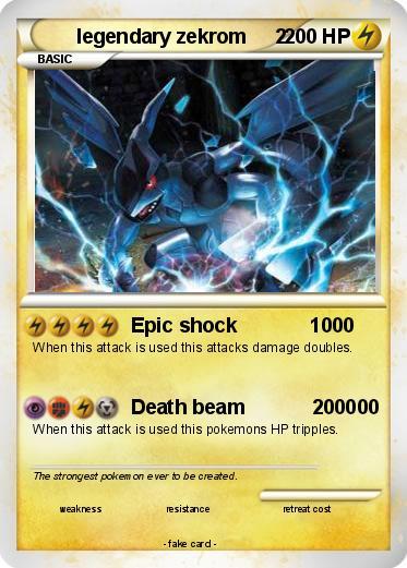 Pokémon legendary zekrom 2 2 - Epic shock 1000 - My Pokemon Card