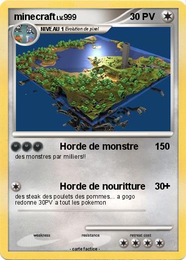 Pok mon minecraft 465 465 horde de monstre ma carte - Poster pokemon a imprimer ...