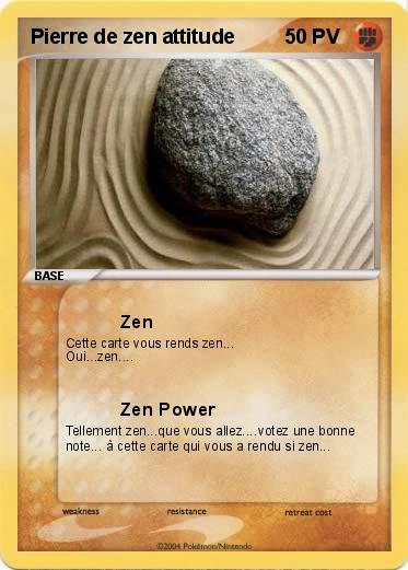 Pokemon Pierre De Zen Attitude Zen Ma Carte Pokemon