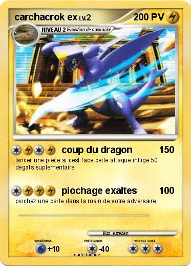 pokemon carchacrok ex