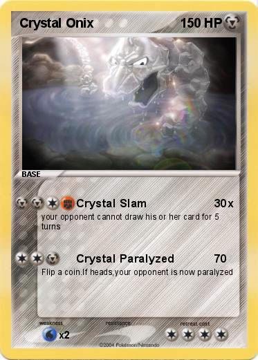 Pokémon Crystal Onix - Crystal Slam - My Pokemon Card