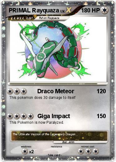 Pokémon PRIMAL Rayquaza 5 5 - Draco Meteor - My Pokemon Card