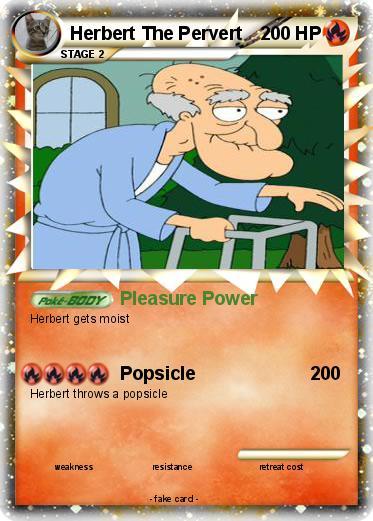 Pokémon Herbert The Pervert 33 33 Pleasure Power My Pokemon Card