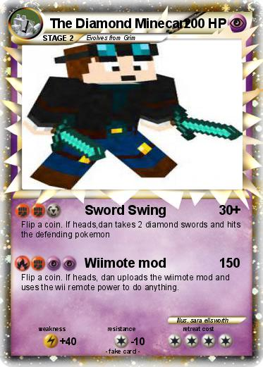 pokémon the diamond minecart 12 12 sword swing my pokemon card
