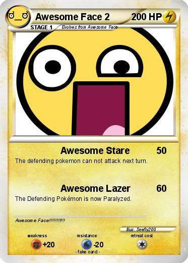 Pokmon awesome face 2 1 1 awesome stare my pokemon card pokemon awesome face 2 voltagebd Image collections