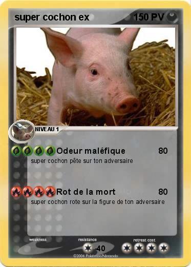 Pok mon super cochon ex 1 1 odeur mal fique ma carte - Cochon pokemon ...