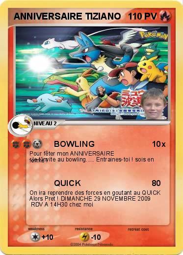 Pok mon anniversaire tiziano bowling ma carte pok mon - Carte de pokemon a imprimer ...