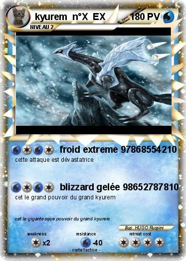 Pok mon kyurem nox ex froid extreme 97868554210 ma - Vrai carte pokemon ex a imprimer ...