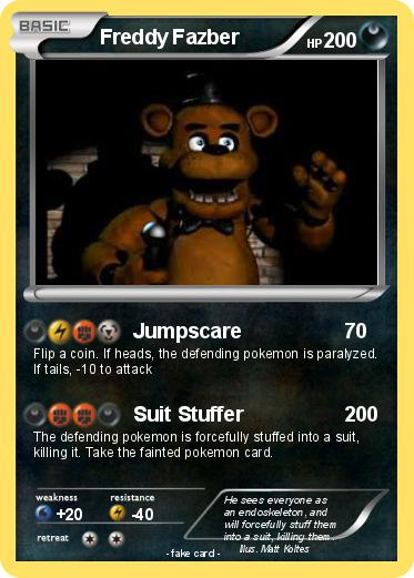 Pok 233 Mon Freddy Fazber Jumpscare My Pokemon Card