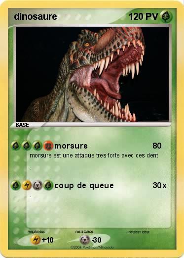 Pok mon dinosaure 8 8 morsure ma carte pok mon - Dinosaure marin carnivore ...