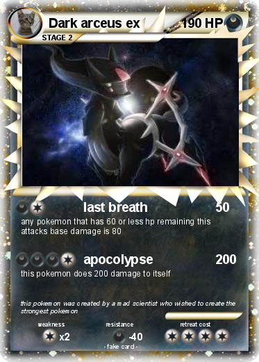 Pok mon dark arceus ex 8 8 last breath my pokemon card - Pokemon arceus ex ...