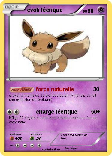 Pok mon evoli feerique force naturelle ma carte pok mon - Evoli blanc 2 ...