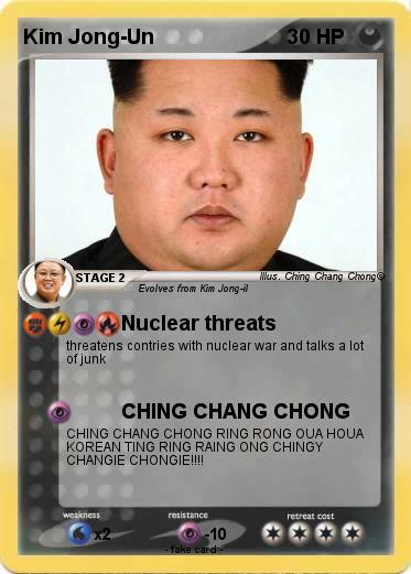 Pokémon Kim Jong Un 306 306 - Nuclear threats - My Pokemon ...