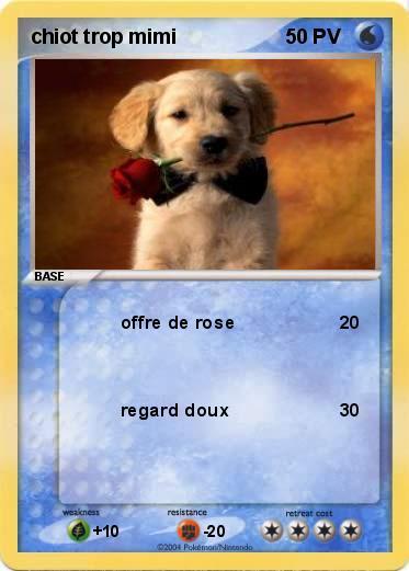 Pok mon chiot trop mimi offre de rose ma carte pok mon - Photo de chiot a imprimer ...