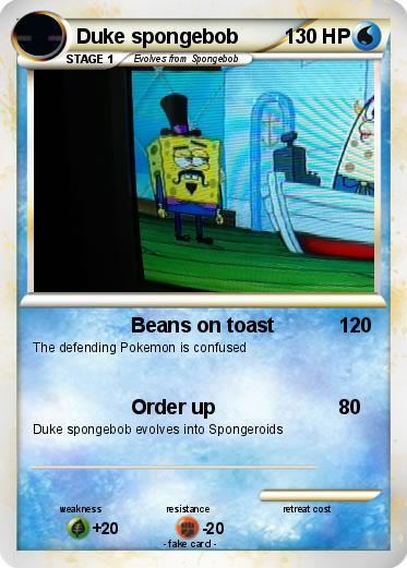Pokémon Duke Spongebob Beans On Toast My Pokemon Card